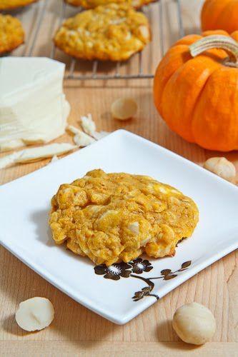 pumpkin white chocolate macadamia cookies.