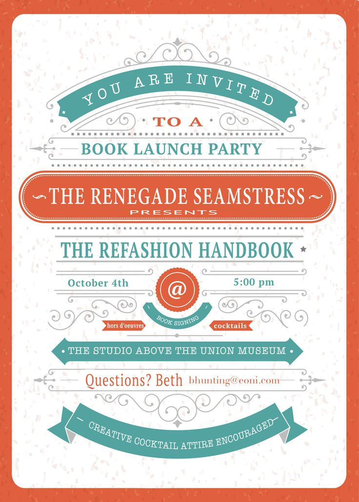 dip dyed ombre shirt a winner and another book giveaway invitation ideas party - Launch Party Invitation