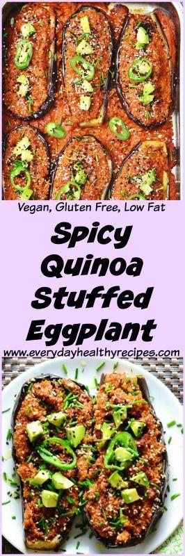 Spicy Quinoa Stuffed Eggplant This delicious Spicy…