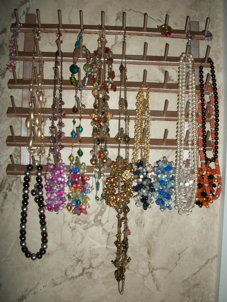 New jewelry rack for all my premier jewelry and mickey for Hobby lobby jewelry holder