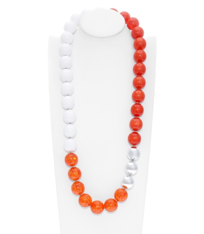 Florian Bead NecklaceAmy Ashworth, Florian Beads, Beads Necklaces, Choctaw Football, Affordable Version, Necklaces Jewelry, Colors Block, Bead Necklaces, Jewelry Beads