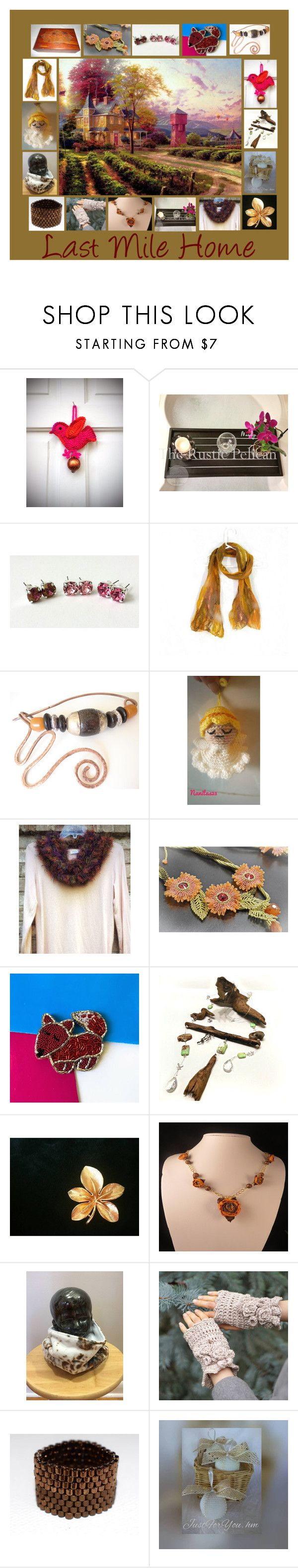 """Last Mile Home: Handmade Country Gift Ideas"" by paulinemcewen on Polyvore featuring rustic, vintage and country"