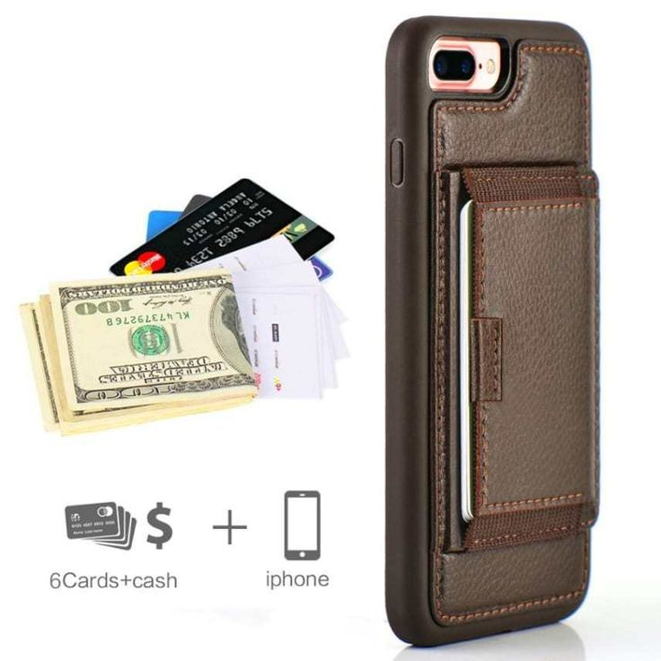 iPhone 7 +/ 8 plus leather Wallet Case with Credit Card Holder shockproof Black | Cell Phones & Accessories, Cell Phone Accessories, Cases, Covers & Skins | eBay!