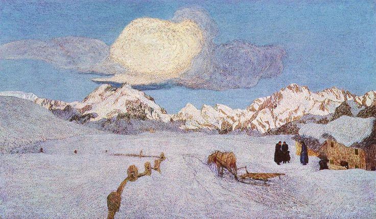 Trittico delle Alpi. La Morte.  Giovanni Segantini  1899