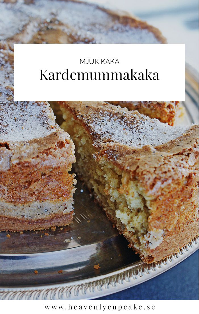Kardemummakaka | Swedish Cardamom Cake, recipe in Swedish Heavenly Cupcake
