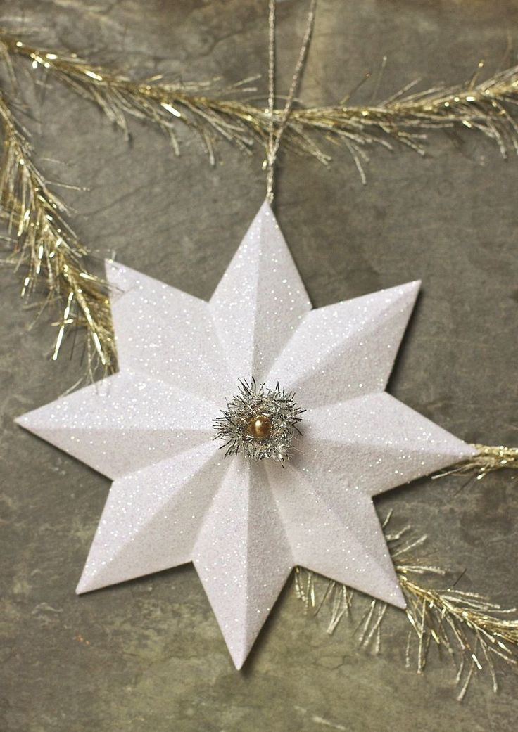 make your own glittered paper stars. Link to template is included! Urban Comfort