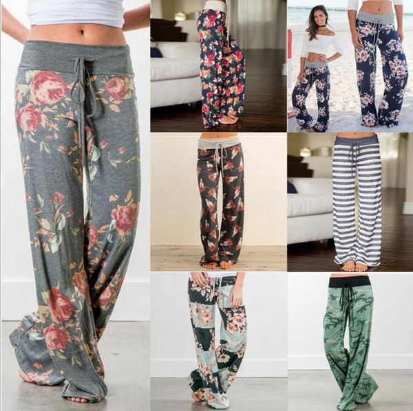 27 color Yoga Fitness Wide Leg Pant Women Casual sports Pants Fashion Harem Pants Palazzo Capris Lady Trousers Loose Long pants YYA1062