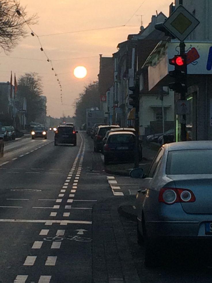 Aufgehende Sonne im Winter