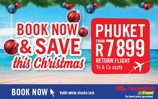WIN WIN WIN R1000 Off Africa & International Flights This Christmas#Christmas #Cheer #Specials #HoHoHo #Fun #Holidays #GiftIdeas #Win #Phuket