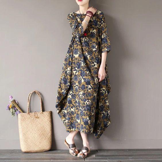 Flower dress loose women clothes: