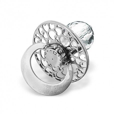 Smoczek ze srebra z kryształem