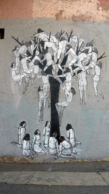 muro77 by HYURO. The tree of life...i think there are more people on the ground in real life than in this picture.