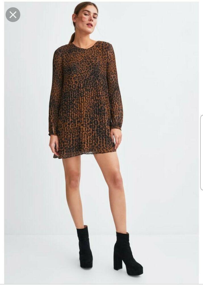 5b2edf6e3c Advertisement)eBay- Zara Leopard Print Pleated Playsuit Size 10 ...