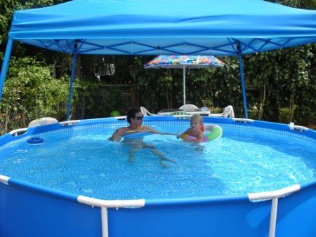 Intex Pool Reviews Intex 15ft By 42 Family Size Round Metal Frame Pool Set Intex Pool