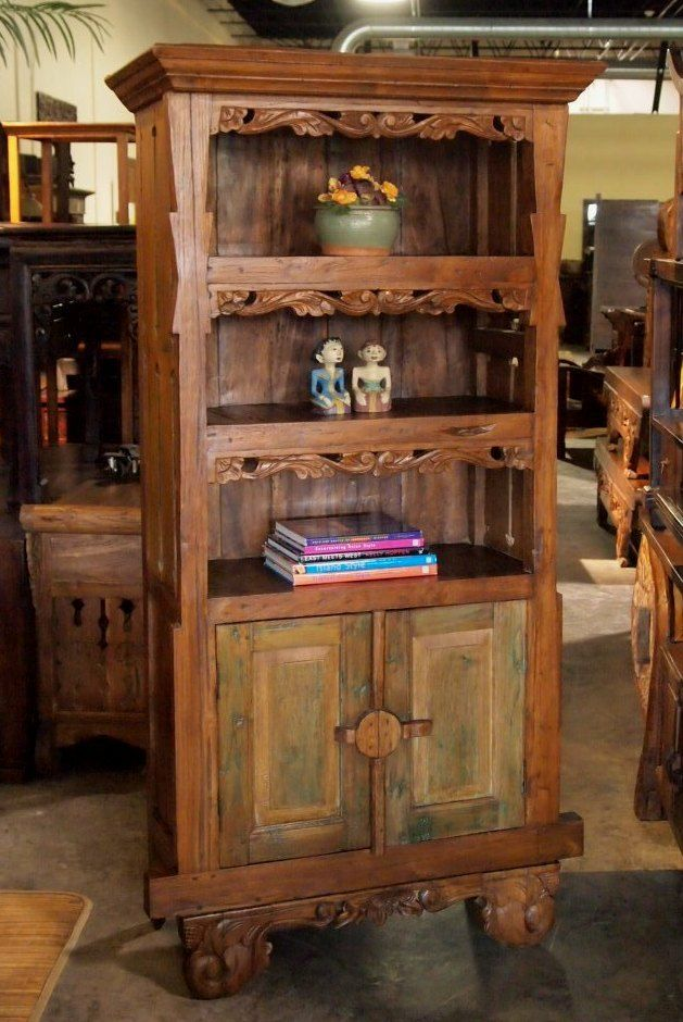 Teak Carved Shelf Bali Cabinet Gado Gado Gado Gado Indonesian Furniture Gallery Pinterest