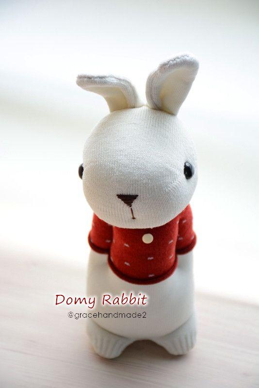 Grace--#396 sock Domy Rabbit