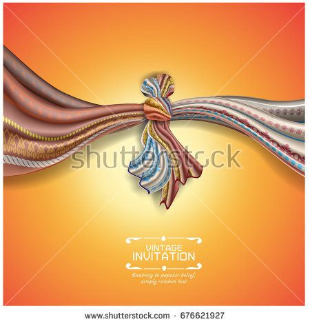 Hindu Wedding Knot Tied With Man And Woman Vector Illustration Of Indian Wedding Invitation Card Wit Wedding Knot Hindu Wedding Indian Wedding Invitation Cards