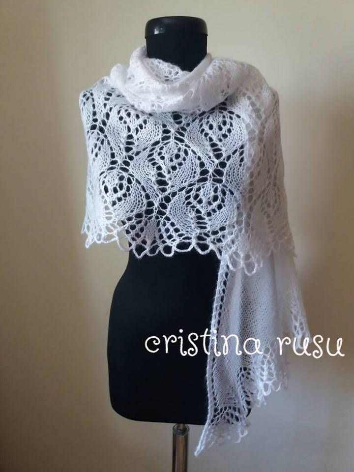 White knit lace shawl, hand knitted lace stole,mohair shawl, white wedding shawl, bridal wrap, mohair  shawl,bolero by CrisColourCrochet on Etsy