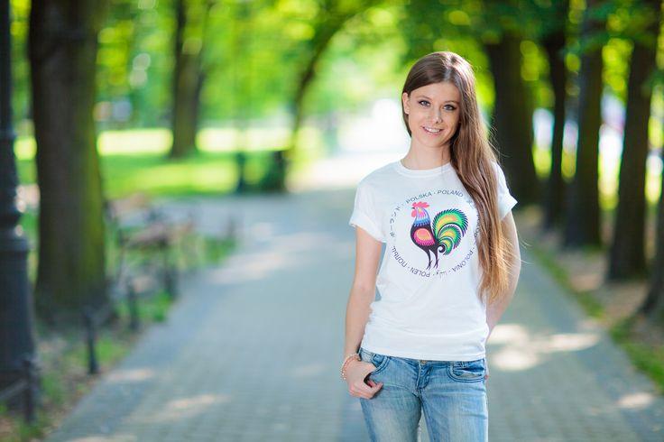 Koszulka FOLK - kogut łowicki