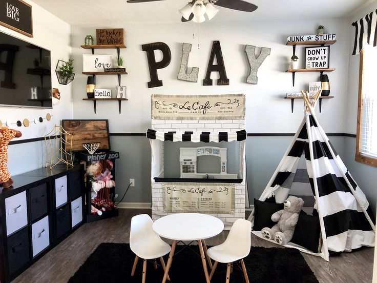 Kids Bedroom Sets The Playroom And Bedroom Combined Diy Room Ideas Playroom Design Playroom Decor Toy Rooms