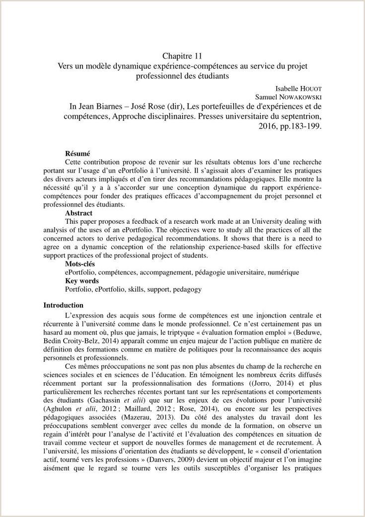 Exemple De Cv Pdf Etudiant in 2020 Resume words