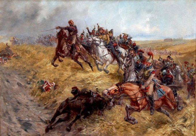 La responsable du maréchal Ney à la bataille de Waterloo, 1815 par Lucien Pierre Sergent