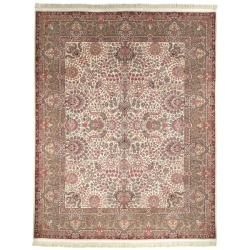 cool Asian Hand-Knotted Royal Kerman Traditional Ivory Wool Rug (12' x 18') Check more at http://yorugs.com/product/asian-hand-knotted-royal-kerman-traditional-ivory-wool-rug-12-x-18/