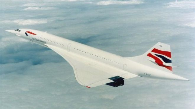 BA British Airways Concorde in 2000