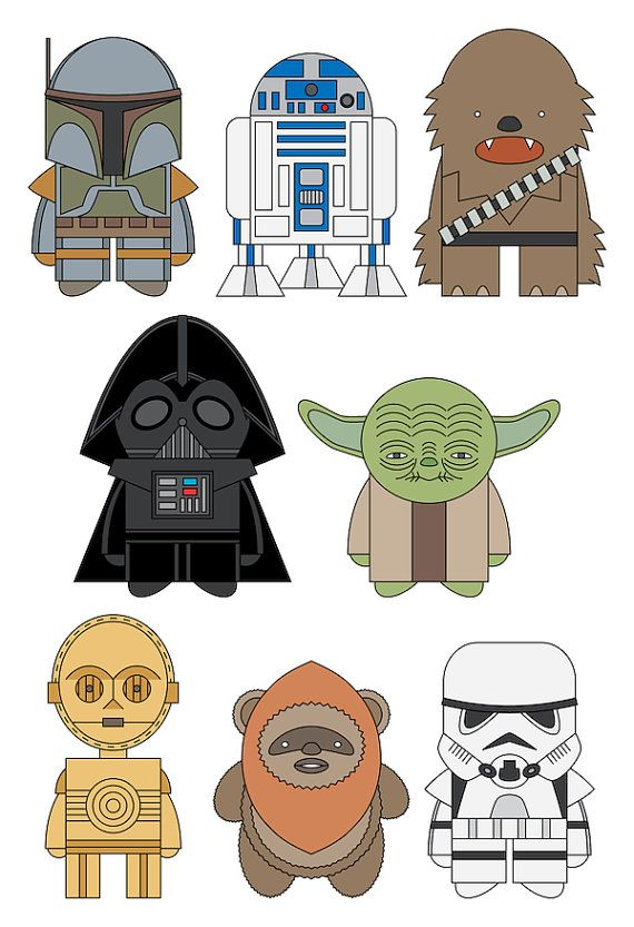 Star Wars by mintparcel on Etsy, 8.5 x 11. $13.00.