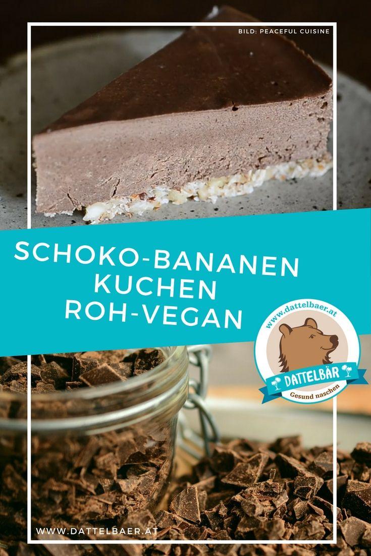 Schoko-Bananen Kuchen (roh-vegan) - Dattelbär´s Webshop - frische Rohkost Datteln kaufen - gesund naschen