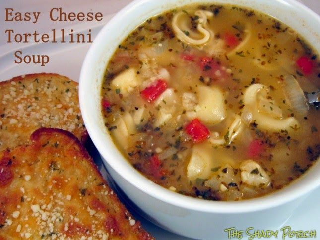 Easy Cheese Tortellini Soup...comforting food.