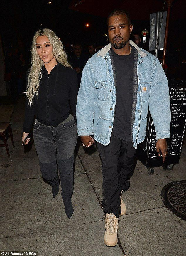 31e566109 Date night  Kim Kardashian stepped out with her husband Kanye West for date  night at Craig s in Los Angeles on Friday  MensFashionNightOut