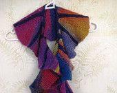 Multi coloured circular scarf