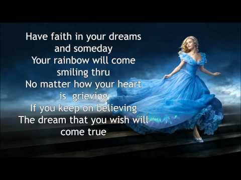 """Have faith in your dreams and sing along to """"A Dream Is A Wish Your Heart Makes"""" from Cinderella. What do you love most about Cinderella? SUBSCRIBE to get no..."""