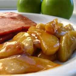 Sauteed Apples - perfect for the fall. I cut the recipe in half and added a little bit of vanilla and nutmeg. This is really good as an easy dessert or a breakfast topping!