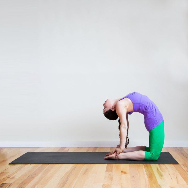 Pin for Later: Relieve Sinus Pressure and Congestion With This Yoga Sequence Camel Pose