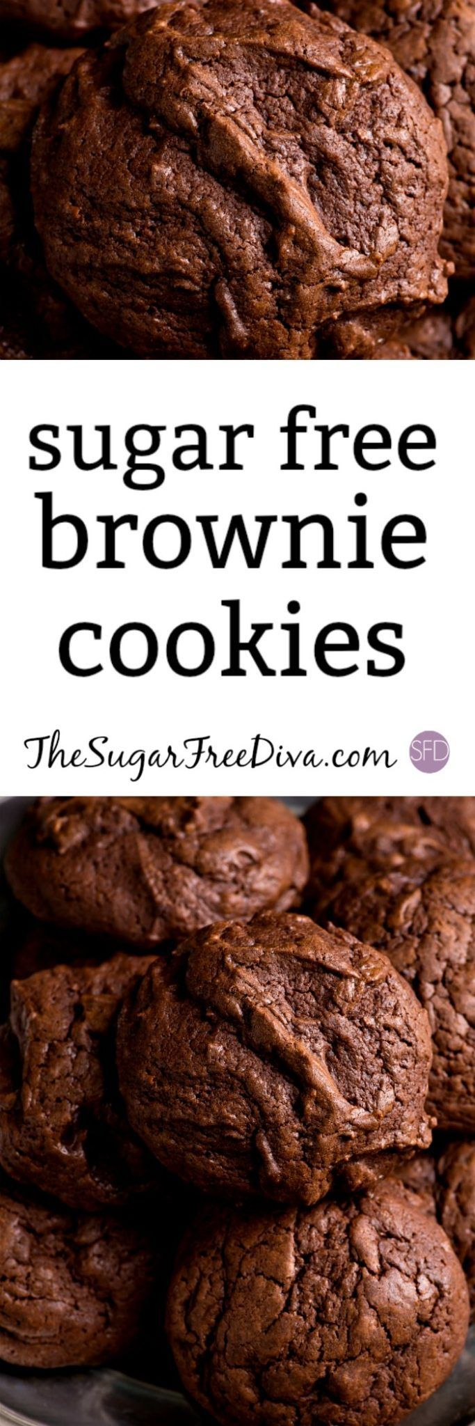 Sugar Free Brownie Cookies It's like the best of all worlds! #sugarfree #recipe #baking #holiday #cookies #brownies #chocolate