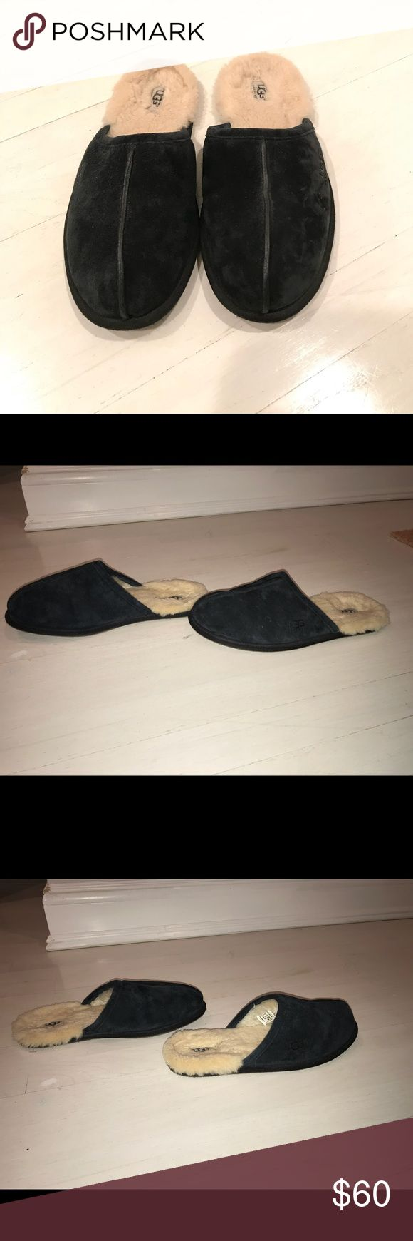 UGG SLIPPERS BLACK UGG SLIPPERS Good condition  gently used  SIZE 10 Buy 2 items get3RD HALF OFF  , Bundle discounts & accepting all reasonable offers !! UGG Shoes Slippers