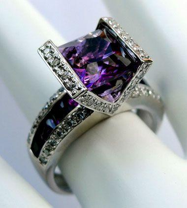 "Bellarri ""Romantica"" 18K White Gold Amethyst & Diamond"
