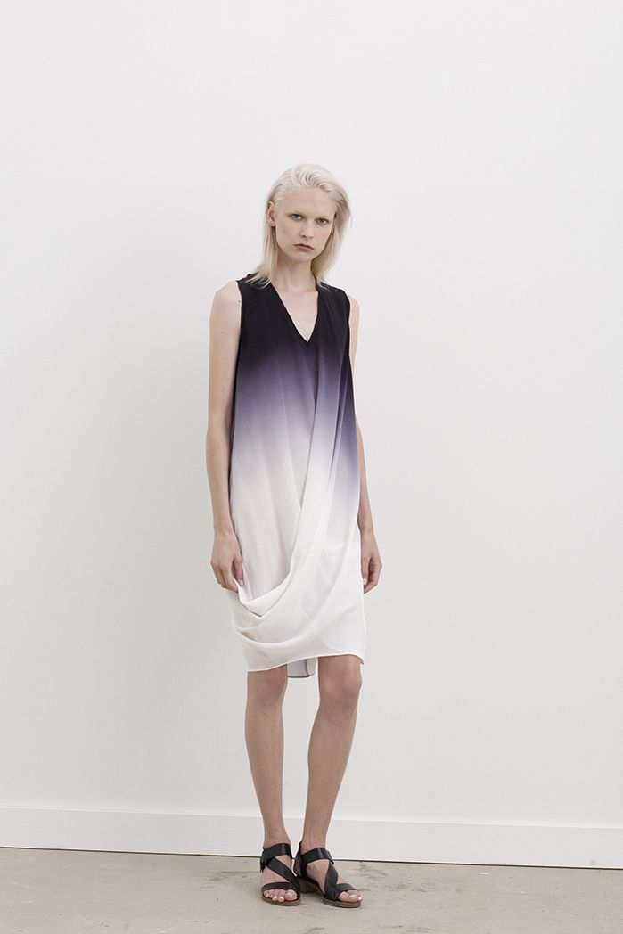 Valery v-neck singlet dress with hem twist