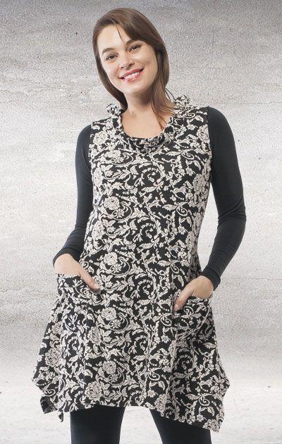 Orientique- Dec- Sleeveless Tunic