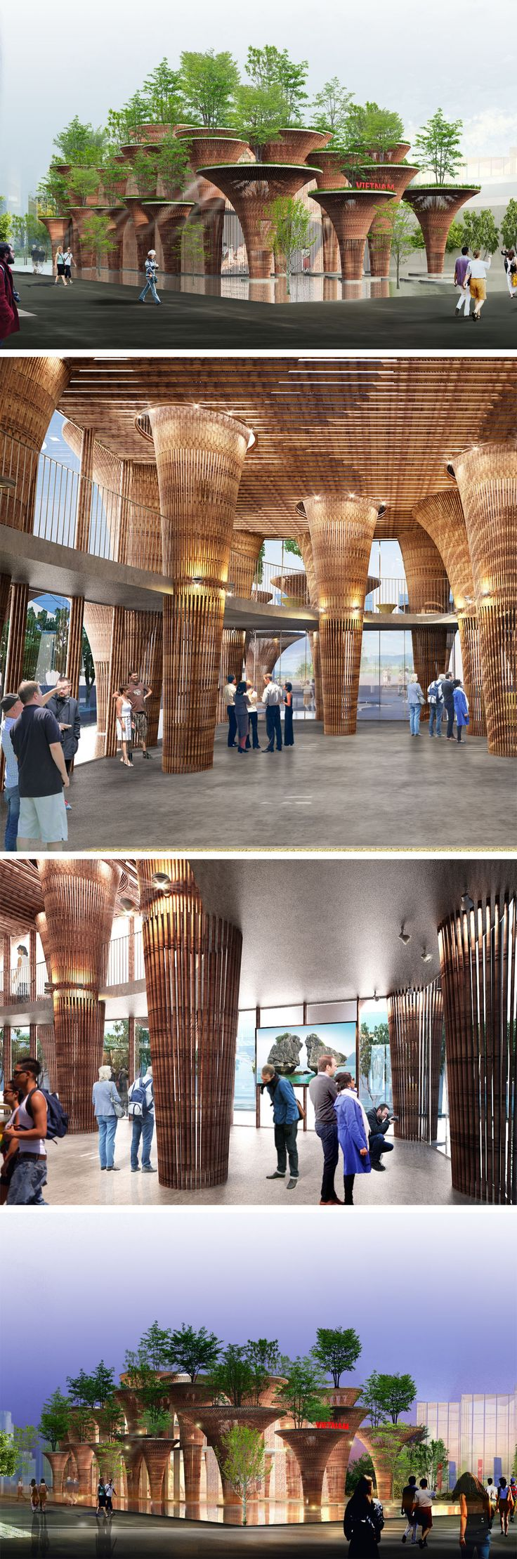 Meu mais novo ídolo| Vietnam Pavilion at Expo 2015 Milano, designed by Vo Trong Nghia architects