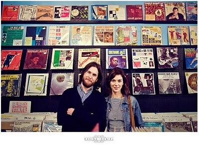 Record store engagement session!