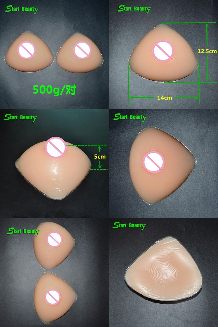 [Visit to Buy] 500g/pair B Cup Silicone breast form Fake Boobs Pad Swimsuit Pad Breast Enlarge padded faux seins for Mastectomy Woman  #Advertisement