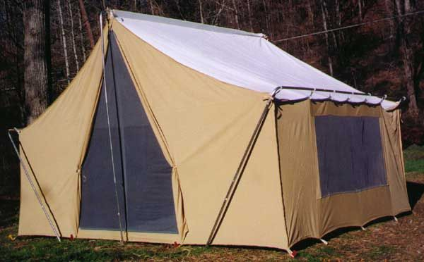 Love this vintage canvas tent we had an old 2 room tent for How to make a canvas tent