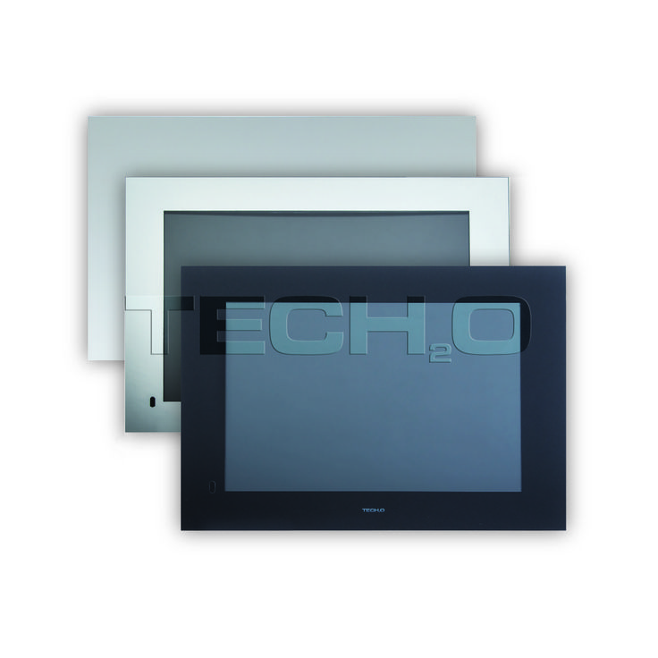 Our #Bathroom #TVs are available in a range of different finishes to suit the style of your bathroom decor | Tech2o