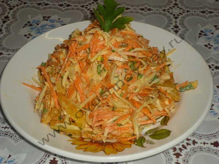 Вкусный салат из редьки зеленой