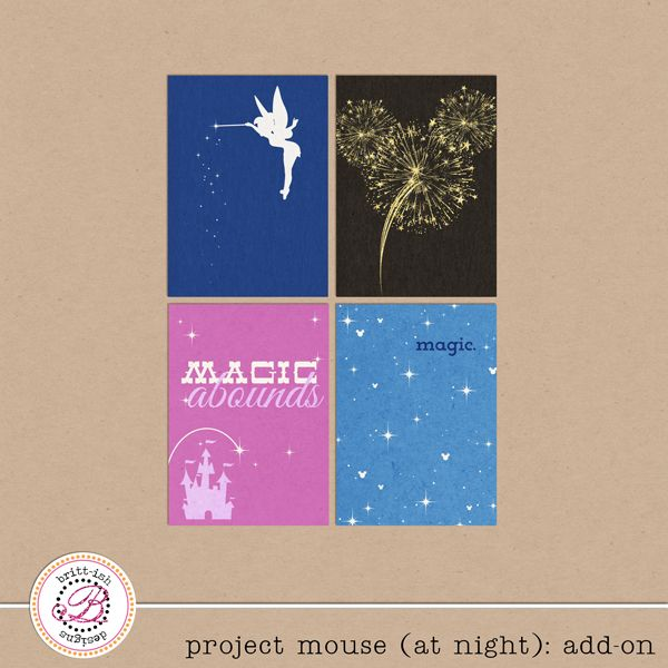 NEW | Project Mouse: At Night | Sahlin Studio | Digital Scrapbooking Designs