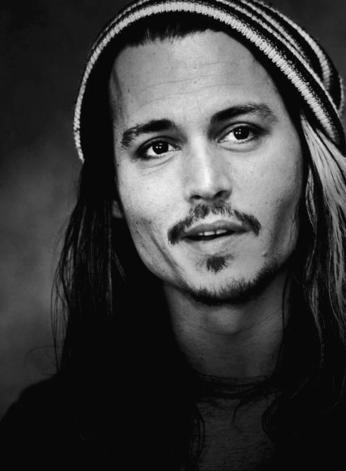 Johnny Depp. I'm totally cool with this facial hair. Although, I think I'd be cool with anything Johnny did.