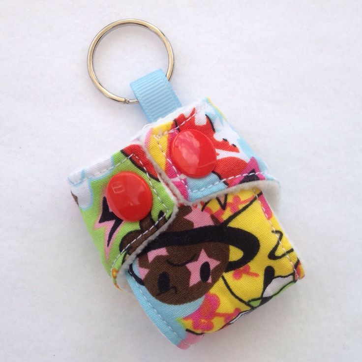A personal favourite from my Etsy shop https://www.etsy.com/listing/199690721/cloth-diaper-cloth-nappy-mini-keychain